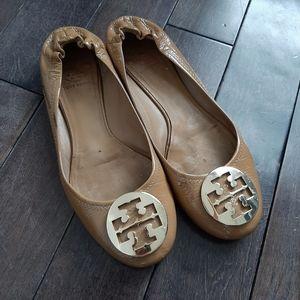 Tory Burch Tumbled Patent Leather Reva Ballet Flat